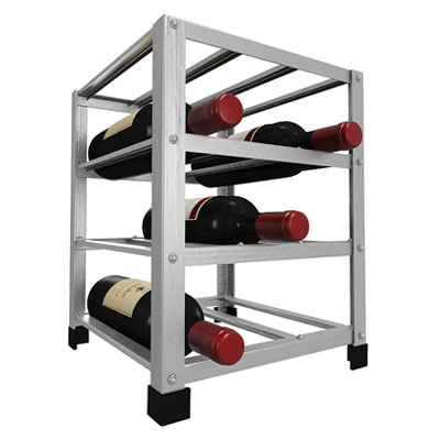 12 bottle metal wine rack