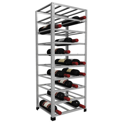 40 bottle metal wine rack