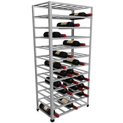 72 bottle metal wine rack