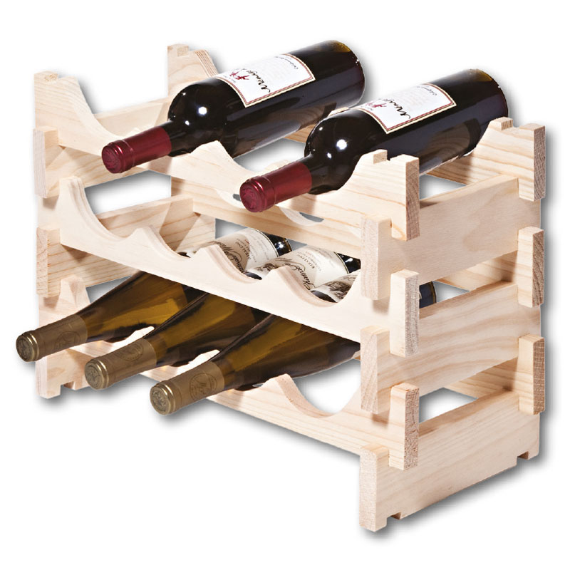 Vinrack Wooden Wine Rack 12 Bottle - Natural Pine