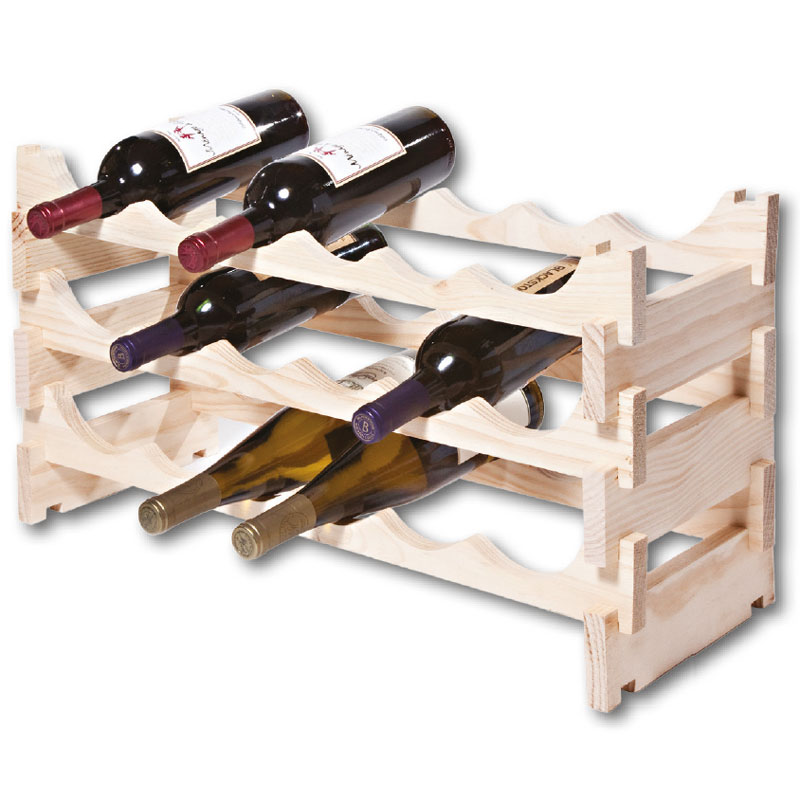 Vinrack Wooden Wine Rack 18 Bottle - Natural Pine