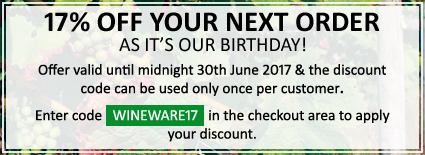 17% OFF as it's our Birthday!