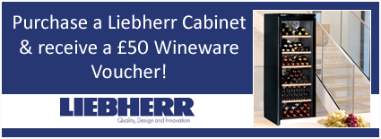 £50 Voucher with every Liebherr Wine Cabinet!