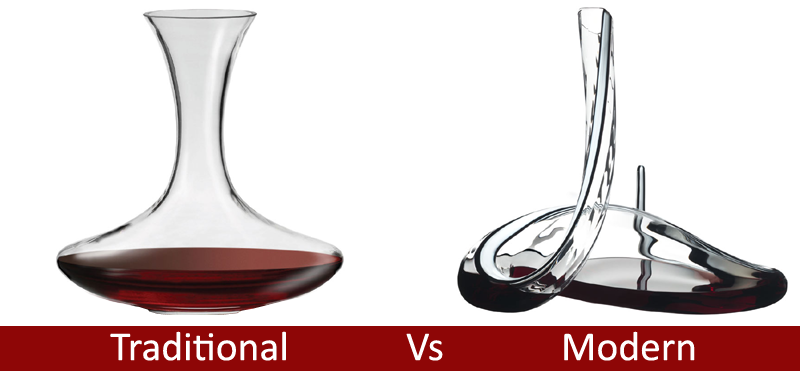 Traditional Vs Modern Wine Decanters