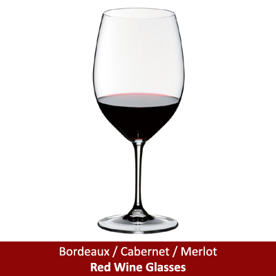 Bordeaux / Cabernet / Merlot Red Wine Glasses