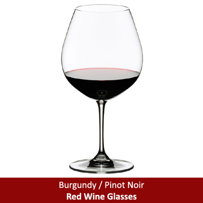 Burgundy / Pinot Noir Red Wine Glasses