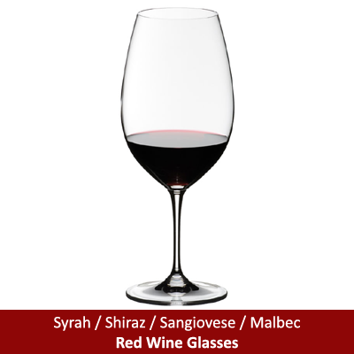 Syrah / Shiraz / Sangiovese / Malbec Red Wine Glasses