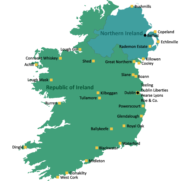 Distilleries in Ireland