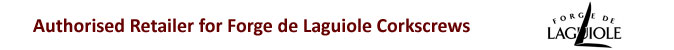 Wineware are a certified stockist and supply genuine Laguiole corkscrews in the UK.
