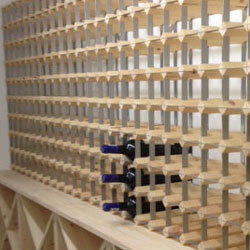 Bespoke, made to measure wooden wine rack