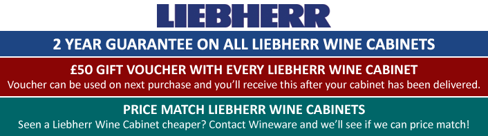 2 year guarantee on all Liebherr Wine Cabinets