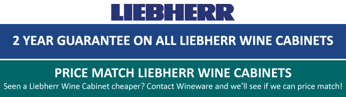 2 year guarantee on all Liebherr Wine Cabinets