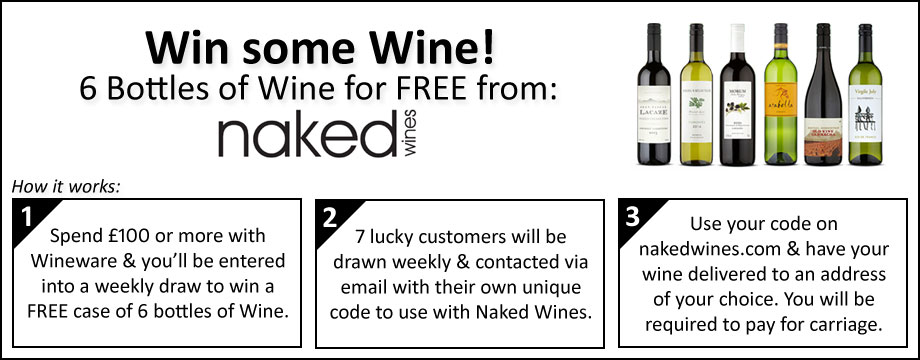 Naked Wines - FREE Case of 6 bottles when your spend £100 or more!