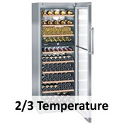 2 / 3 Temperature Wine Cabinets