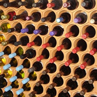 Terracotta wine rack storage