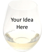 Stemless wine glass design