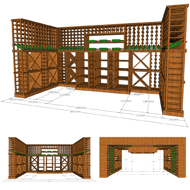 CAD Wine Cellar Design