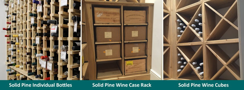 Solid Pine Wine Racking Options