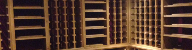 Oak Wine Racking