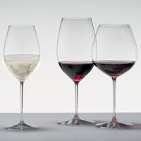 High-quality crystal wine glasses
