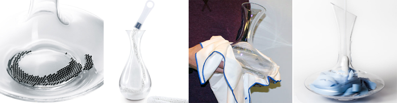 Cleaning a wine decanter