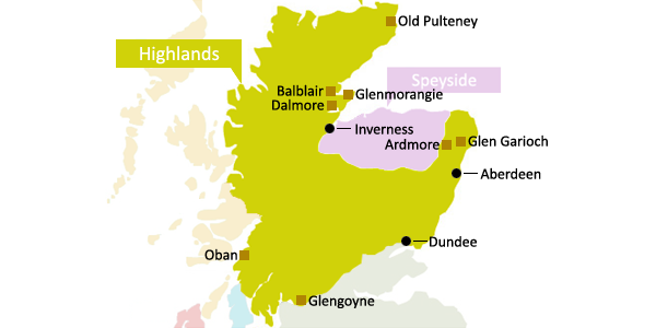 Scottish Whisky Regions - Highlands