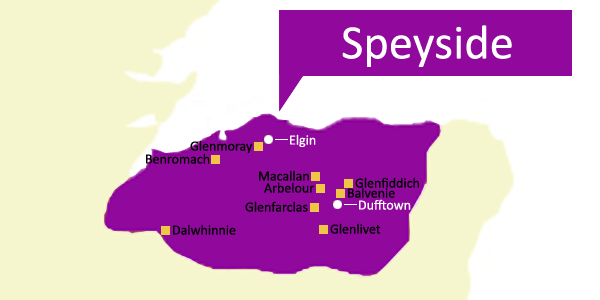 Scottish Whisky Regions - Speyside