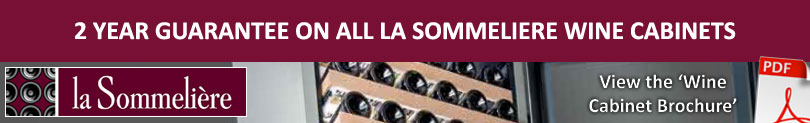 2 Year Guarantee on La Sommeliere Wine Cabinets