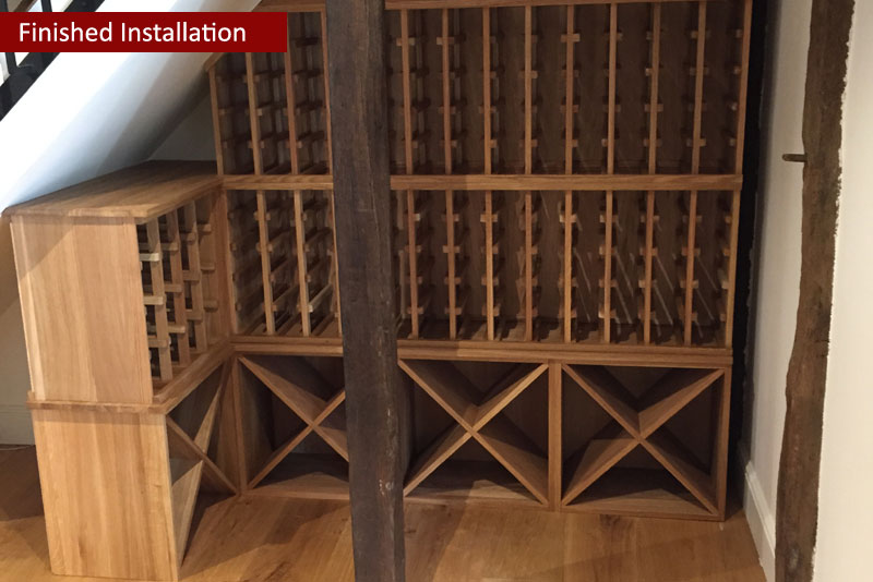 Traditional Wine Racking provided by Wineware.co.uk