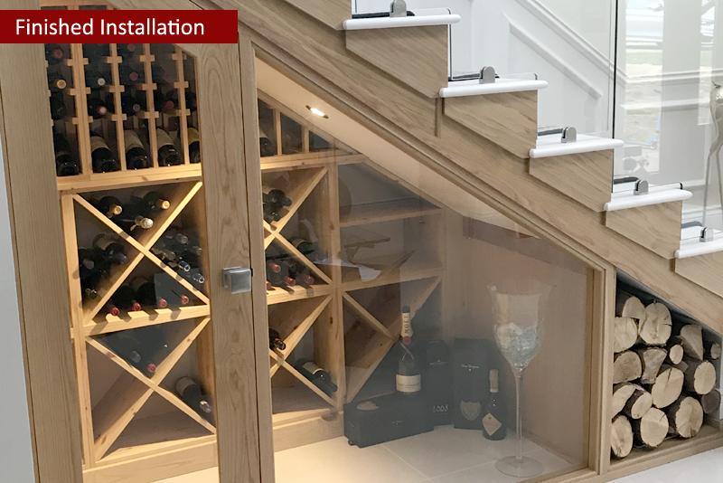 Amazing ... Under Stairs Pine Wine Racking Provided By Wineware.co.uk ...