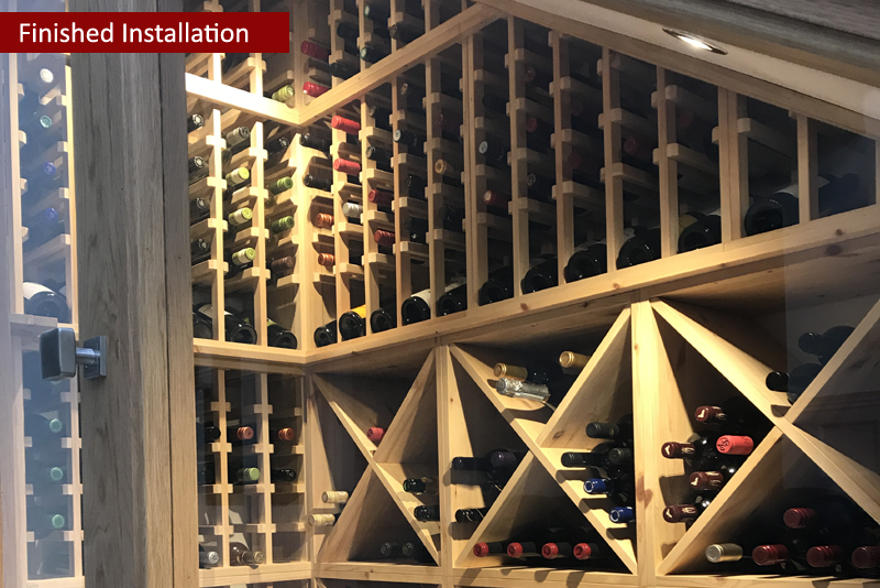 Beautifully Displayed Bespoke Under Stairs Wine Room In