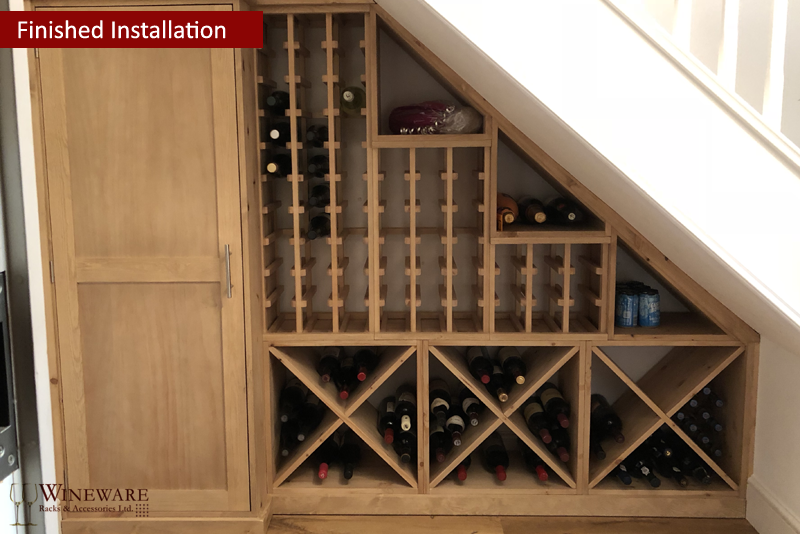 Awesome ... Under Stairs Pine Wine Racking Provided By Wineware.co.uk