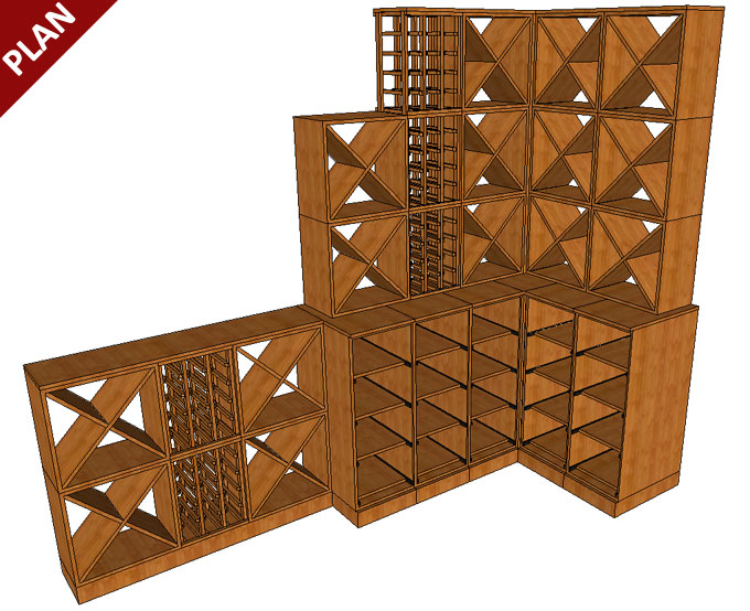 Solid Oak Wine Racking provided by Wineware.co.uk