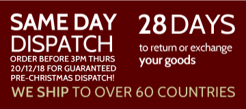 Same Day Dispatch, Ship Internationally, 28 Days Return