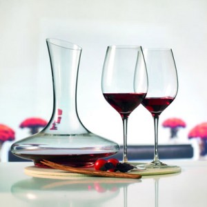 Decanted wine