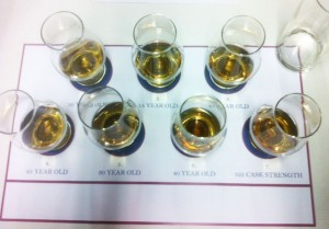Tasting the whiskies