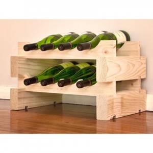Modularack 8 Bottle Wine Rack - Natural Pine