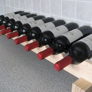 Modularack Wooden Wine Rack Additional Layer - 9 Bottle Wide - Natural Pine