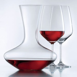 Wine glasses and decanter set