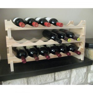 Vinrack Natural Pine Wine Rack - 18 Bottle