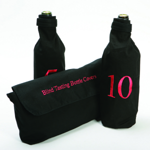 Blind wine tasting bottle sleeves