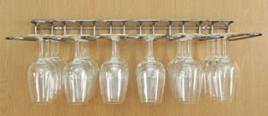 Store your glassware and wine collection…on the wall!