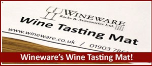 The perfect tasting accessory, Wineware's 'Wine Tasting Mat'!