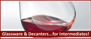 Wineware's selection of Glassware & Wine Decanters for intermediates!