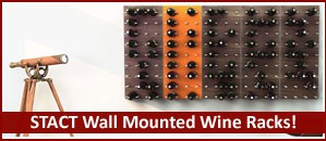 STACT Wall Mounted Wine Rack - Modern Wine Storage!