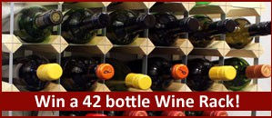 Win a 42 Bottle wine rack in our Spring Competition!