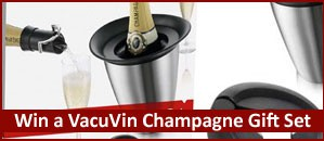 Win a VacuVin Champagne Gift Set in our Summer Competition!