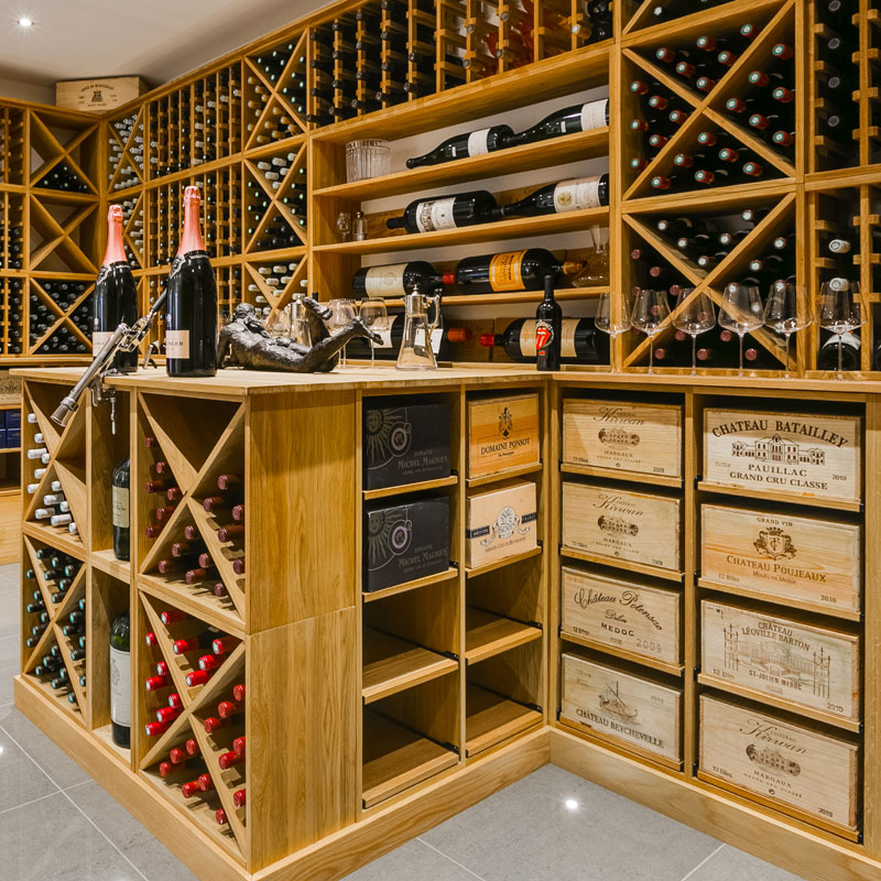 Bespoke Oak Wine Racking - The ultimate wine gift for Christmas!