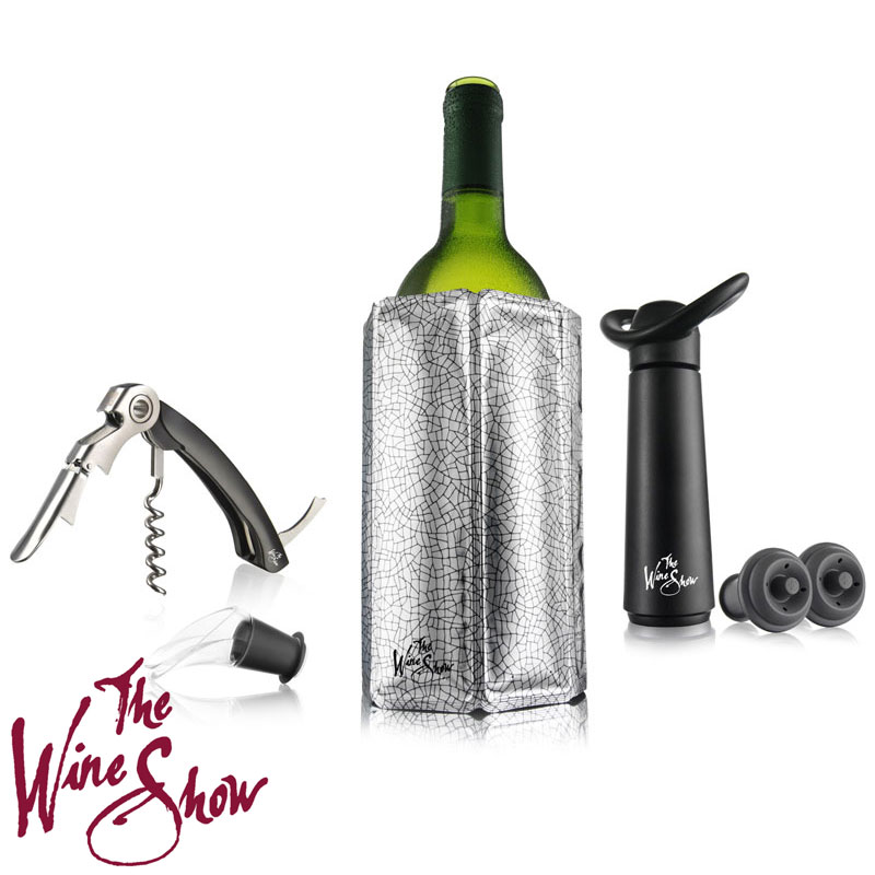 The Wine Show by VacuVin Wine Essentials Gift Box - 6 Piece Set