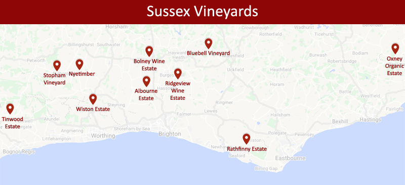 Vineyards of Sussex